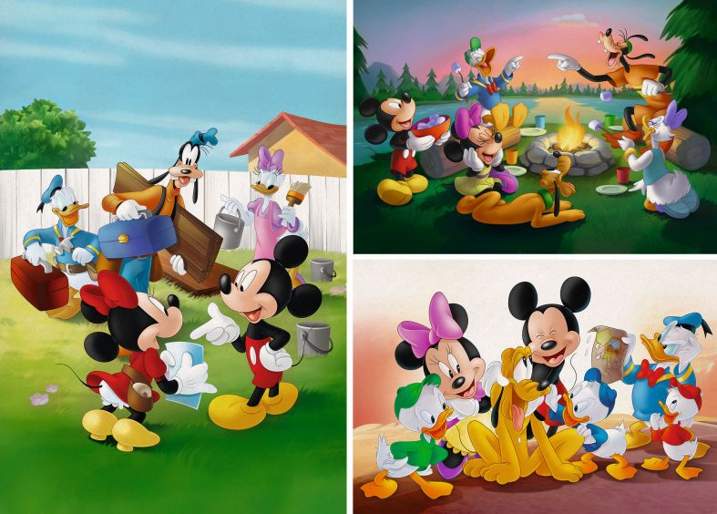 Play for Future puzzle - Mickey Classic, 3x48 db