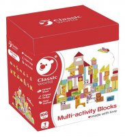 Multi-activity blocks fa építőjáték, 100 db